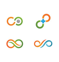 infinity design infinity logo template vector image