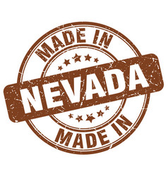Made in nevada brown grunge round stamp vector