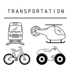 means of transport design vector image