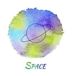 Planet space astronomy watercolor concept vector