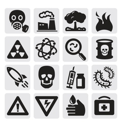 Pollution set vector image
