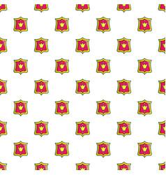 Princess emblem pattern seamless vector