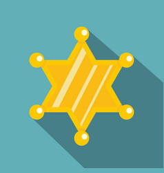 sheriff star icon flat style vector image