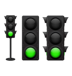 Traffic lights green light on vector