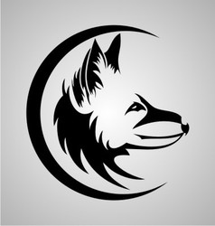 Tribal fox head vector