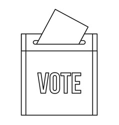 Vote box icon outline style vector