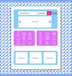 web page template for online store vector image