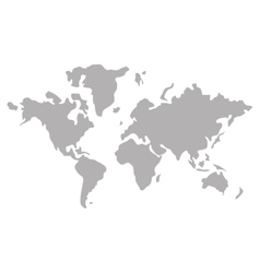 Globe Map World Earth Business Icon Royalty Free Vector - World map uncolored