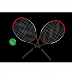 tennis racket vector image