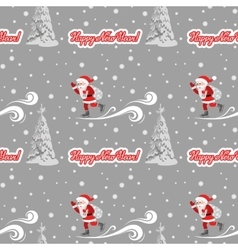 Seamless pattern on the theme of the new vector image