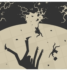 Business People fall into the abyss vector image
