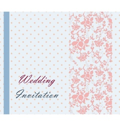 Vintage retro Wedding invitation vector image