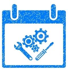 Instrument tools calendar day grainy texture icon vector