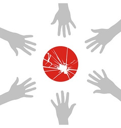 Japan helps vector image