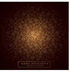 Premium floral background design vector