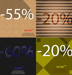 20 650 icon set of percent discount on abstract vector