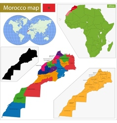 Morocco map vector