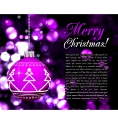 background with christmas balls illustration vector image