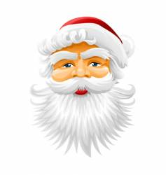 Face of santa claus vector