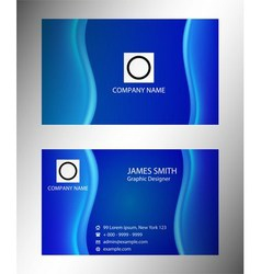 Visiting card set vector