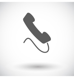 Phone single flat icon vector