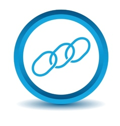 Blue Chain icon vector image