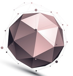 3d mesh modern spherical abstract object origami vector