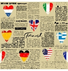 Travel newspaper vector image