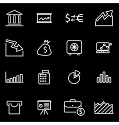 Line economic icon set vector