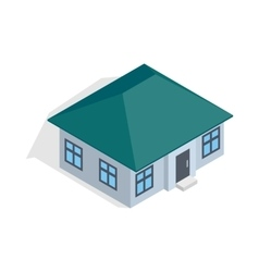 One storey house icon isometric 3d style vector