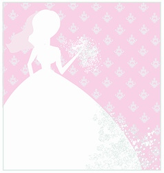 Abstract Beautiful floral bride vector image
