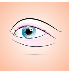 Abstract Human Blue Eye vector image vector image