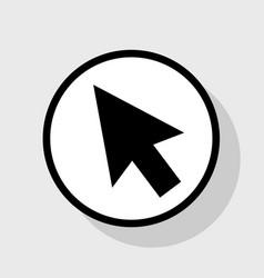Arrow sign flat black icon vector