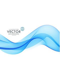 Blue wave background design vector