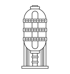Capacity for oil storage icon outline style vector