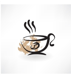 coffee cup grunge icon vector image vector image