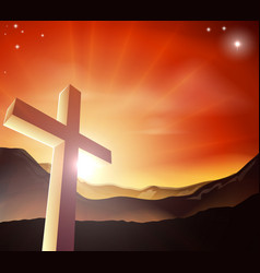easter cross concept vector image