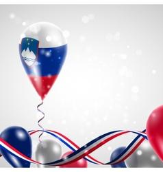 Flag of Slovenia on balloon vector image