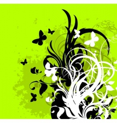 floral frame silhouettes vector image