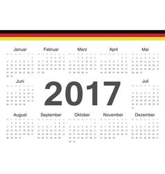 German circle calendar 2017 vector