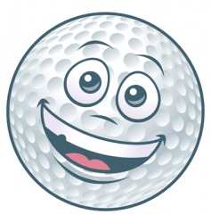 golf ball cartoon character vector image vector image