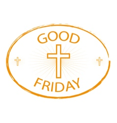 good friday stamp style with cross vector image vector image