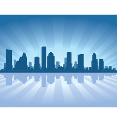 houston skyline vector image vector image