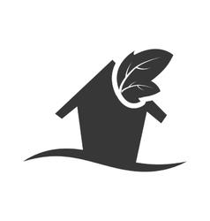 Leaf ecology silhouette design vector