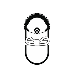 Newborn baby icon vector image vector image