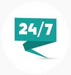 Open 24 hours day and 7 days week icon vector