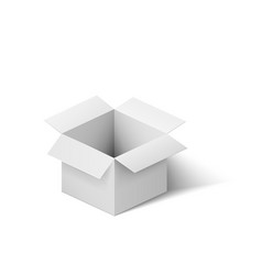 open white box isolated on white background vector image