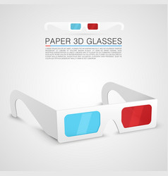 Paper 3d glasses vector