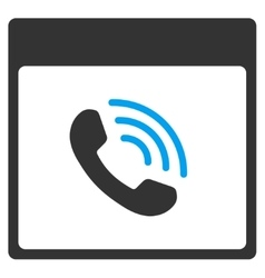 Phone call calendar page toolbar icon vector