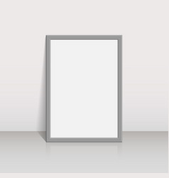 picture frame on a white wall 3d background design vector image